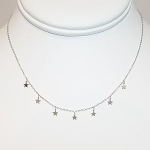 Jewelry - NEW 925 Sterling Silver Stars Choker Necklace
